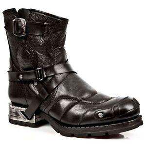 Punk Nero Style New Gothic Mr004 S1 Rock Stivali Boots Unisex wAqztTHz