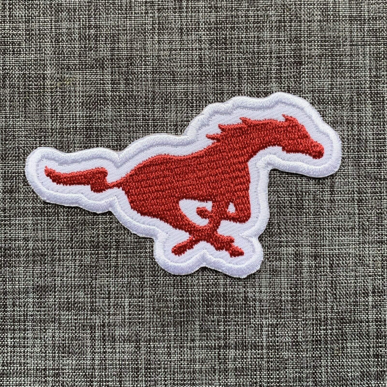 SMU Mustangs Iron on patch Football patch//Iron patches//Embroidered patch