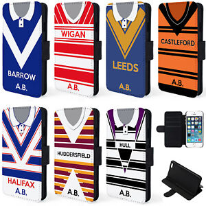 Retro-Rugby-Shirt-iPhone-Case-Phone-Wallet-Cover-Personalised-Gift-ALL-TEAMS