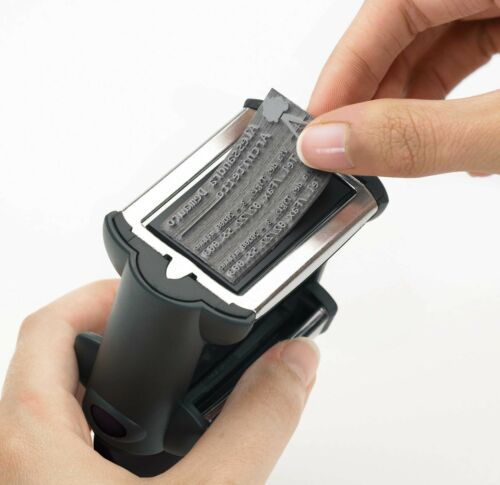 3 Zeilen Textplatte Stempelplatte Colop Printer Q12-12x12mm Onlinedesigner