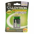 Lloytron B018 NiMH 9-Volt 250mAh AccuUltra Rechargeable Battery