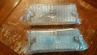 69 70 Chevy C10 C20 C30 Pickup Truck Clear Park Light Lamp Lenses Pair