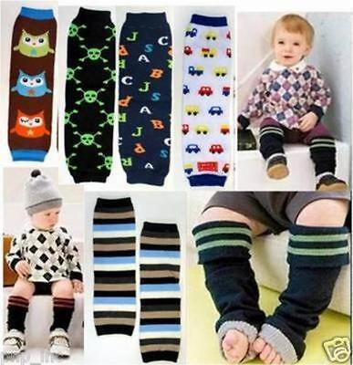 Baby Boys Xmas Arm Leg Warmers Opaque Cotton Baby Toddler Leggings Kids Socks OS