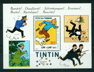 FRANCE 2000 MNH ** Neuf TINTIN SNOWY CARTOON M/Sheet Bloc 28 Comic Art Stamp