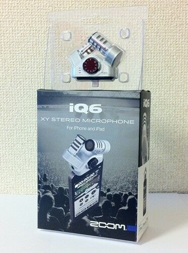 NEW  ZOOM iQ6 XY Stereo Microphone for iPhone iPad iPod touch from JAPAN