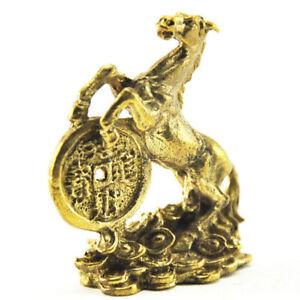Amulet buddhist statue horses figurines money talisman chinese zodiac figurines