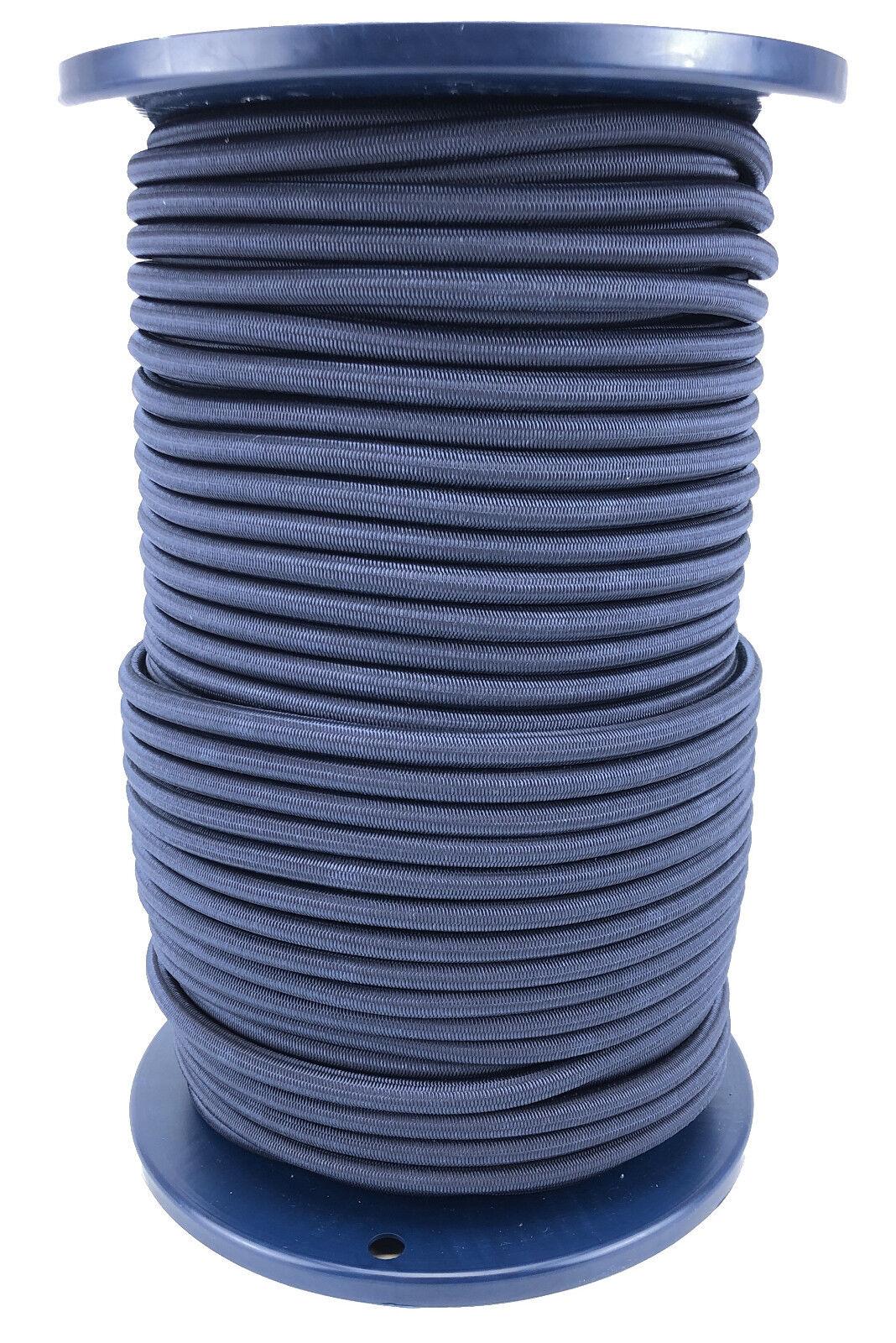 8mm Blu Navy Bungee Elastico Corda x 75 Metri Cordicella Elastica Corda