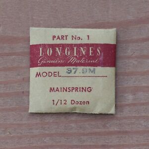 New-Longines-Genuine-Swiss-Cal-37-9M-Watch-Mainspring-Part-Watchmakers-G6D18