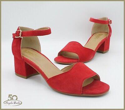 Igi & Co Sandali Da Donna In Camoscio Rosso Con Tacco Eleganti Igieco Sandalo Elegante Nell'Odore
