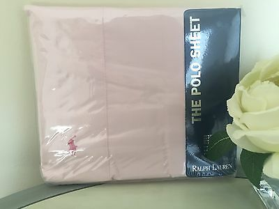 NEW RALPH LAUREN ~ THE POLO SHEET ~ SOLID PINK PONY FLAT SHEET