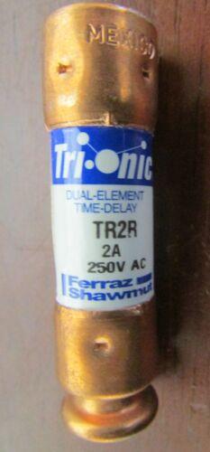 FERRAZ SHAWMUT MERSEN TR2R 2 AMP 250 V Tri Onic Fuse