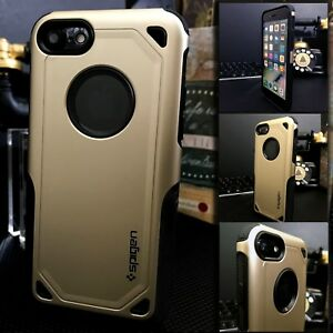 Apple-iPhone-7-Rugged-Dual-Layer-Case-Gold-Rigid-High-Density-Cover