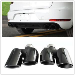 For-Porsche-Macan-2-0T-Base-2014-2018-Black-Exhaust-Tips-Muffler-Pipe-2pcs-MA