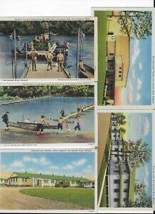 5-LOT-VINTAGE-MILITARY-US-ARMY-VIEWS-FORT-LEONARD-WOOD-MO-TRAINING-ROUTE-66