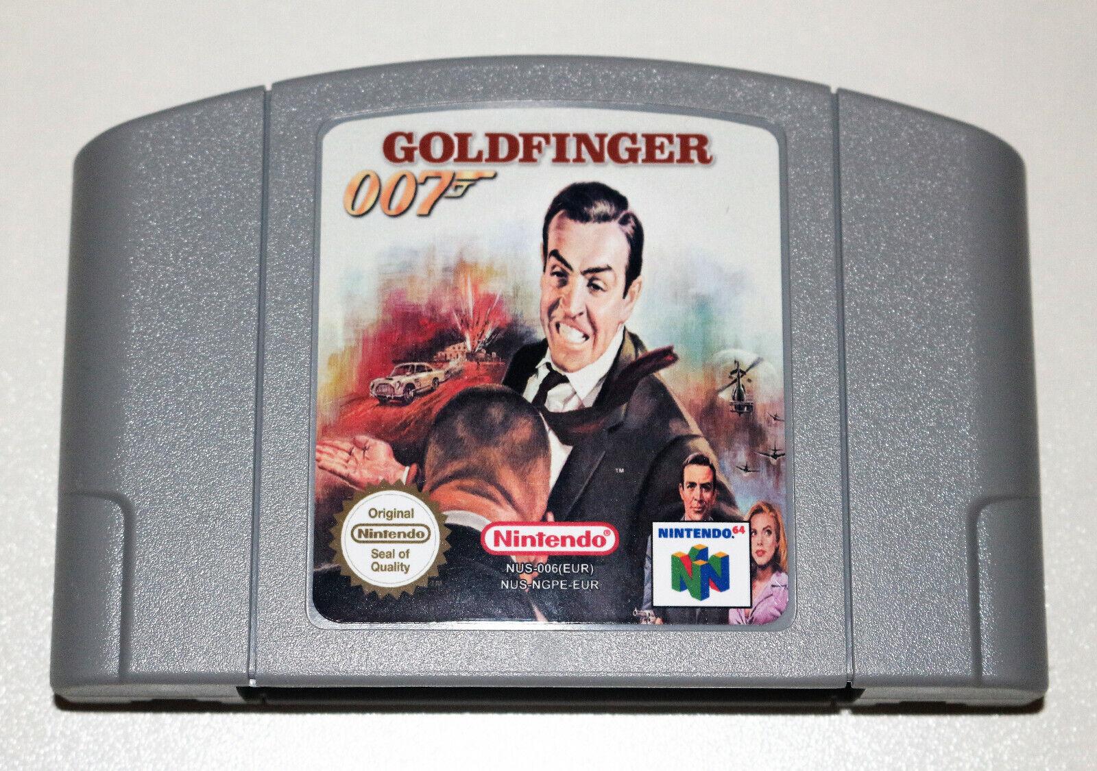 *PAL Version* 007 GOLDFINGER 64 Game For Nintendo 64 N64 Goldeneye Golden Eye