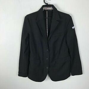Animo-Blazer-Womens-Size-M-D-42-Black-Show-Jacket-Equestrian-Stretch-Long-Sleeve