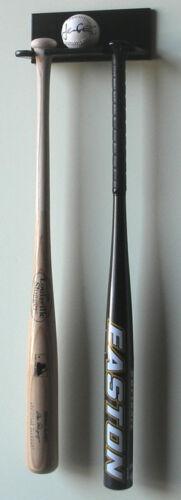 1 Baseball 2 Bat Ball Rack Display Case Wall Cabinet Holder Baseball Softball