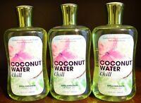 3 Bath & Body Works Coconut Water Chill Shower Gel Wash Signature Lot 10oz