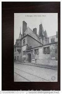 Tarjeta-Postal-Antigua-Postal-Bourges-Hotel-Cujas-Museo