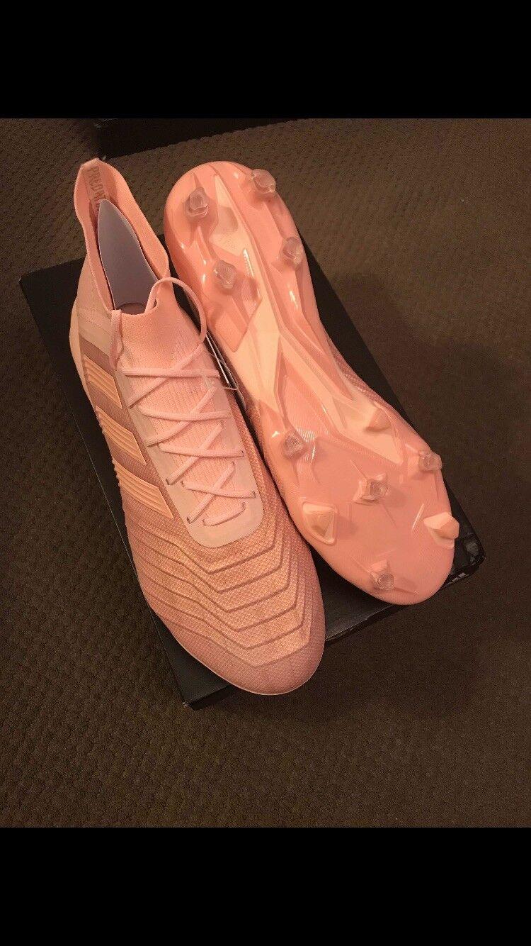 Adidas Predator 18.1 FG Leather Pink Football Boots Men's