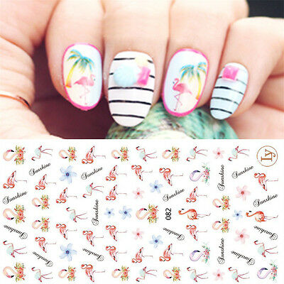 Flamingo 3D Nail Art Stickers Nail Decals for Gel Polish Salon Quality Manicure