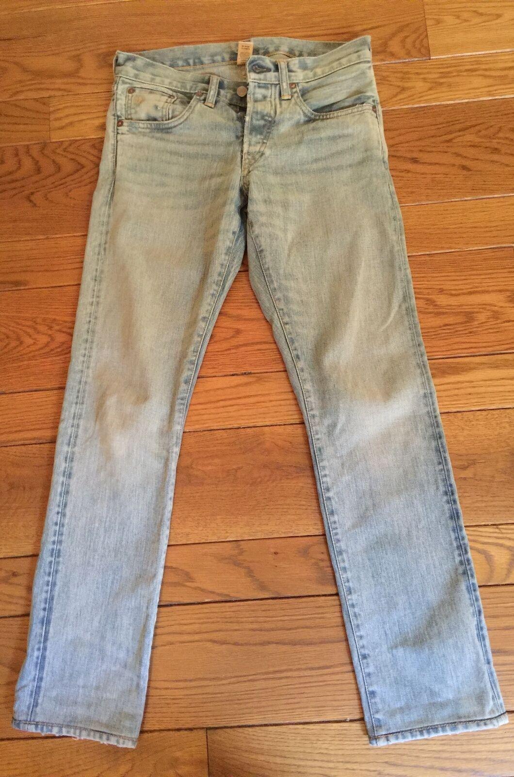 RRL DOUBLE RL Ralph Lauren Slim  FLAGSTAFF  Light bluee Jeans 28x32
