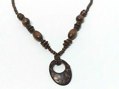 Tan and Brown 34 Bead Necklace