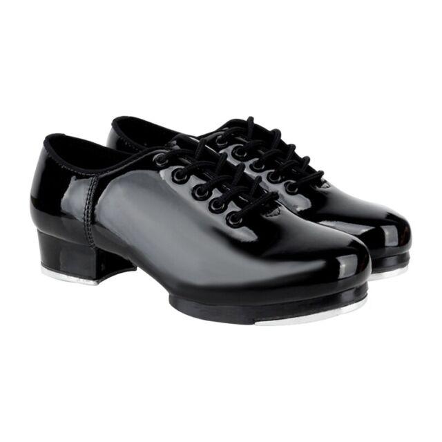 Men Women Tap Dance Shoes Block Heels