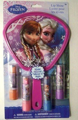/& Olaf Kiss 4 favor Lip Shine with Mirror Play Set-New! Disney Frozen Anna,Elsa