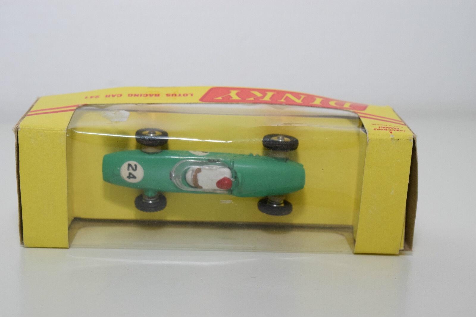 Schäbiges spielzeug 241 lotus - rennwagen grün grün grün - roten helm export - box im mint - boxen 0b8888