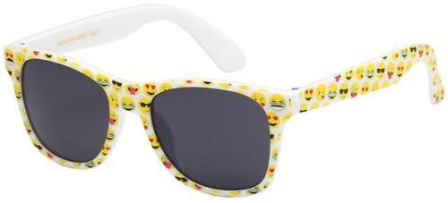 Designer Bambini Occhiali da Sole Classici Emoticons RAGAZZA Nero Retrò UV400