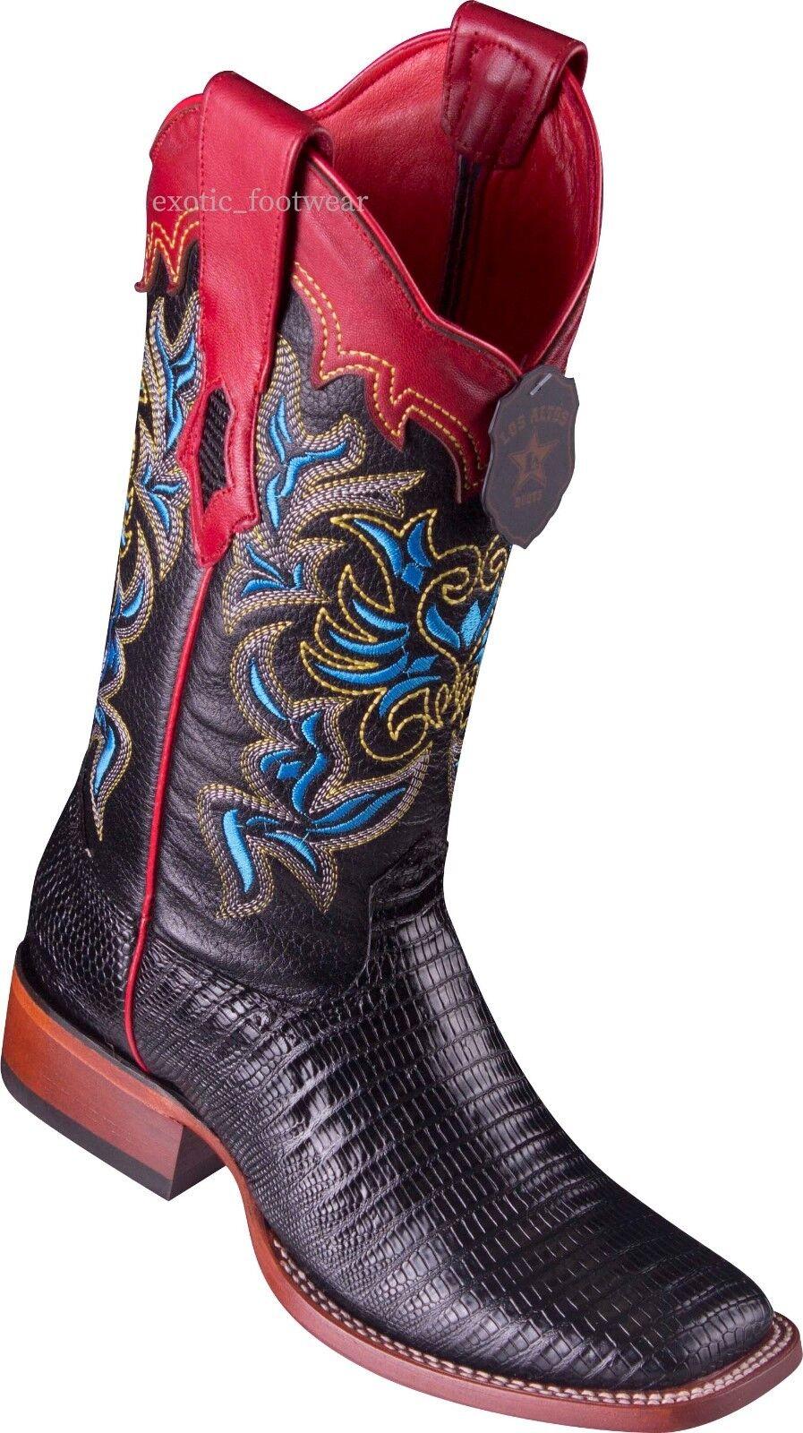 Ultimo 2018 Donna  Los Altos Genuine Teju Lizard Western stivali stivali stivali Square Toe Handmade Medium  più preferenziale