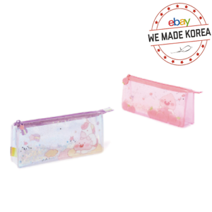 KAKAO FRIENDS Glitter Pencil Case Pouch Lovely Apeach Edition Authentic Goods