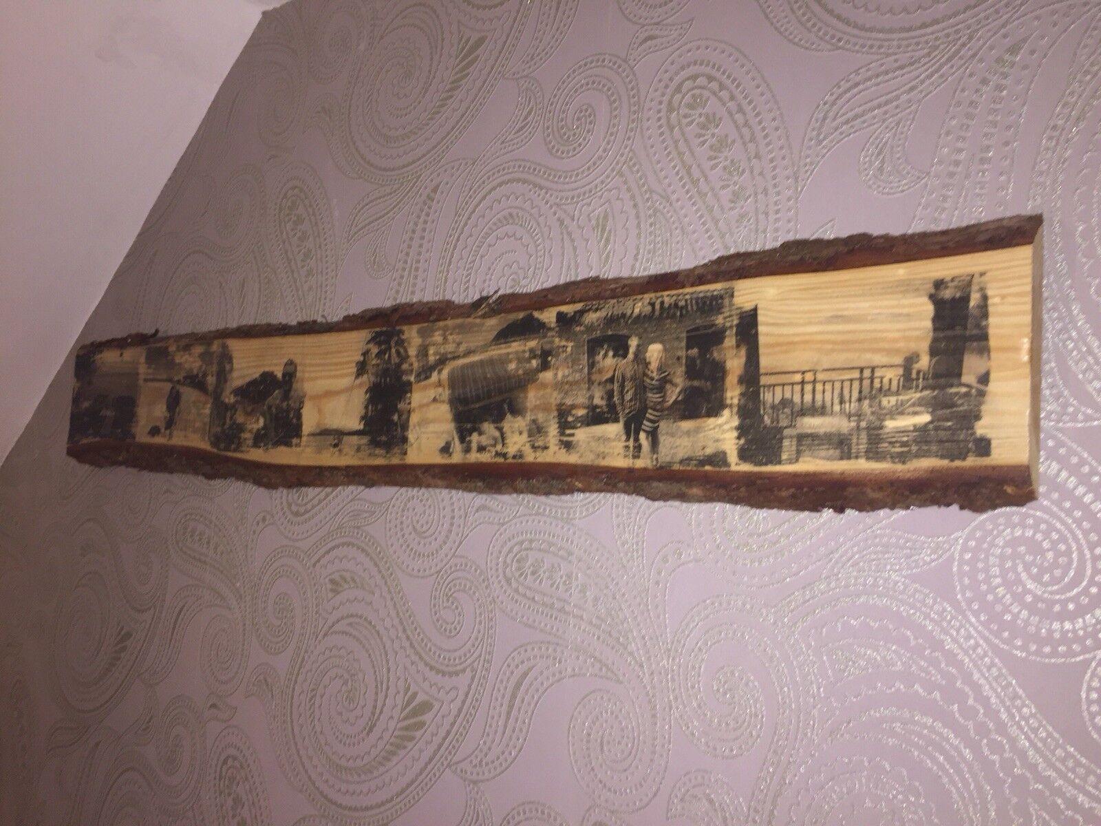 Bilder Auf Holz perfekt für Geburtstag Hochzeit Vintage Foto auf BAUMSCHEIBE