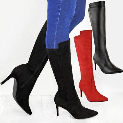 New Ladies Womens Mid Calf Knee High