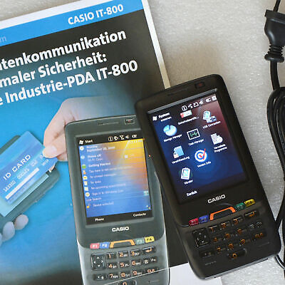 PDA MIT WINDOWS MOBILE CASIO IT-800 IT-800RGC-65D SCANNER + GSM TELEFON GPS UMTS