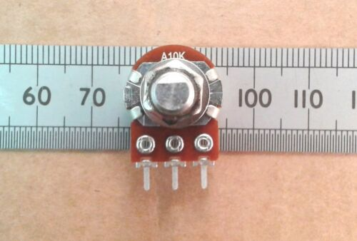 Pot Flat Points to Wiper 16mm Flatted D Shaft Logarithmic Track Potentiometer