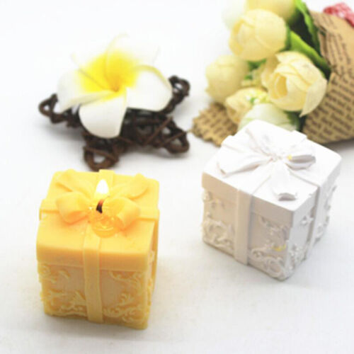 3D Gift Box DIY Silicone Soap Mold for Handmade Soaps Chocolate Molds T
