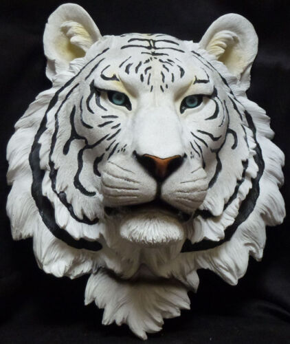 BLUE ICE White Tiger Wall statue figure L13.5/'/' x W15.5