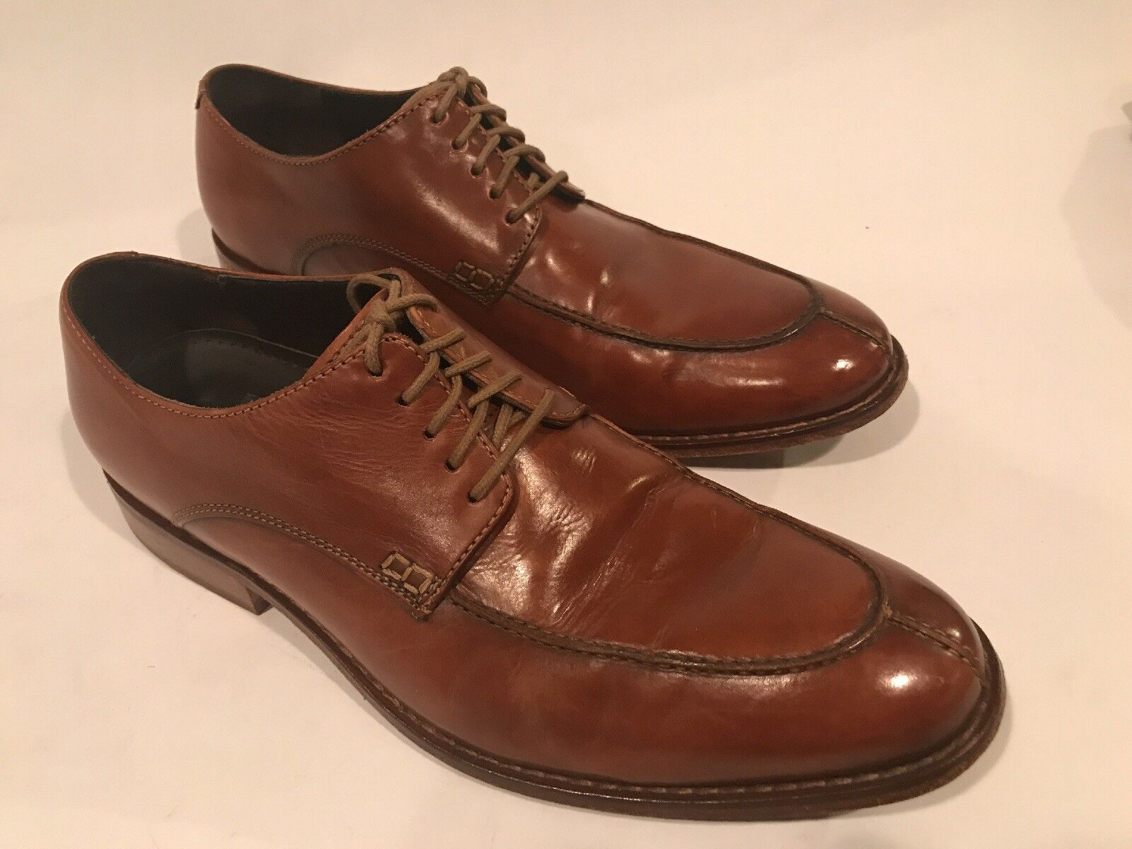 Cole Haan Colton Split Toe Oxfords Walnut Brown Men's 9.5 M C09022