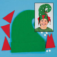 5 Elf Hats W/bells Craft Kit Santa's Helper Christmas