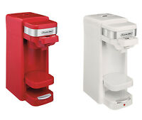 Proctor Silex Flexbrew Single Serve Pack Or Ground Coffee Maker, Red Or White