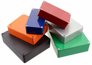 Genuine-Hammond-Diecast-Aluminium-Stompbox-Enclosure-Various-Colours