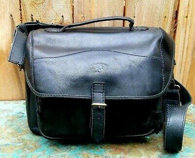 Portland Black Leather Messenger