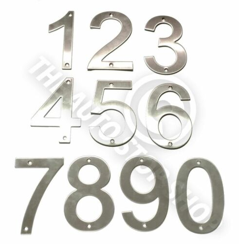 Stainless Steel House Numbers No 382 SCREW on house Door Building 10cm
