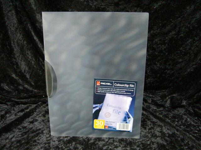 2 x Rexel Report File ColourClip Close 17450 Grey Purple A4 30 sheet capacity