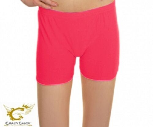 New Girls Lycra Shorts UV Neon Hot Pants School Dance Party Casual Pant Age 5-10