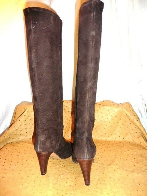 SUPERB BOOTS BARSCHERY ALL LEATHER DAIbrown VINTAGE 70 NEW NEW NEW T.35.5 OLD STOCK e5bc41