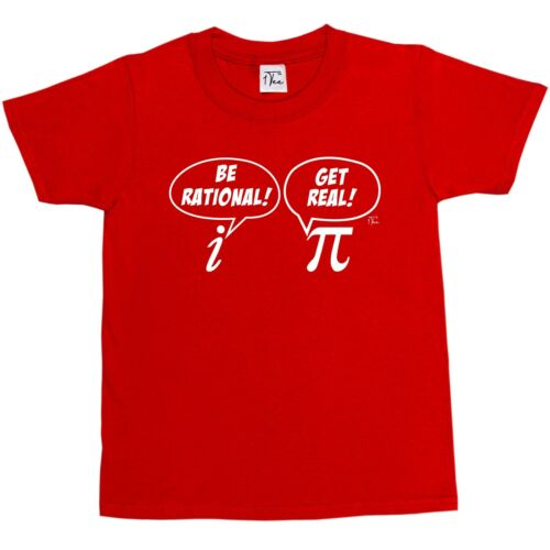 1Tee Bambine essere Rational Get Real matematica/'S T-shirt