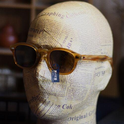 Vintage polarized sunglasses Johnny Depp glasses mens blonde frame brown lenses